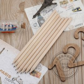 可定做长度原木白木短铅笔厂家自然纯木色logo定制