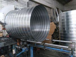 佛山螺旋风管厂家生产镀锌螺旋风管库存充足