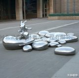 不鏽鋼兔子雕塑