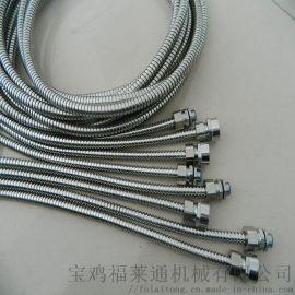 乌海市销售304双扣不锈钢穿线软管 内径20蛇皮管