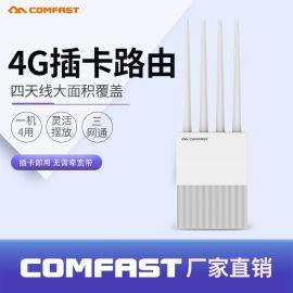 CF-E3 4G路由器 插SIM卡上网充电宝充电