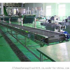 山东定做304不锈钢食品饮料链板输送机