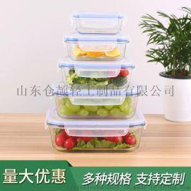 长方形高硼硅耐热玻璃保鲜盒 微波炉烤箱冰箱可用