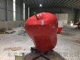 """水果文化節 以""""果""""爲媒廣告宣傳玻璃鋼蛇果雕塑擺件"""