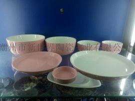 供应 库存现货 色釉 陶瓷餐具 盘子 饭碗 汤碗