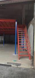 新型仓储货架钢格板货架阁楼货架