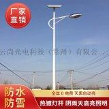 廠家直銷5米6米太陽能路燈戶外防水照明路燈具可定製