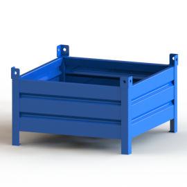 波纹板铁箱 可堆叠固定金属箱 钢制周转箱