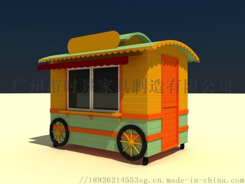冰激凌售賣車,仿古小吃售賣車,大型奶茶售賣車