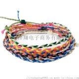 源頭廠家直銷編織手鏈 蠟繩手工編織禱告繩