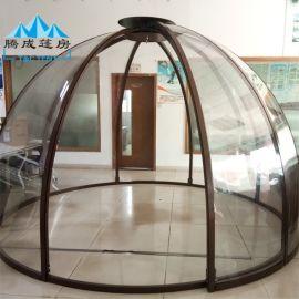 腾成帐篷定制户外爆款新型PC透明球形篷