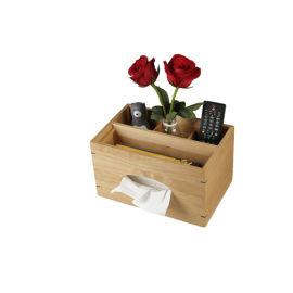 现代流行纸巾盒连遥控器储物木制收纳盒