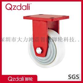 超重型紅色漆白色PA尼龍腳輪