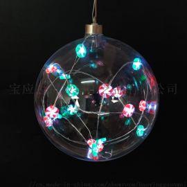 LED吹制高硼硅圣诞玻璃球