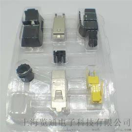 4芯工业RJ45数据插拔连接器