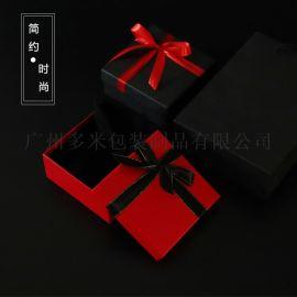 天地盖丝带蝴蝶结礼品盒纸盒皮带口红礼品包装盒