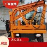 高速護欄打樁機 打拔功能 配3.5-10立方空壓機