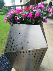 订制花器广场直销花盆不锈钢花箱厂家酒店
