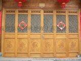 四川仿古門窗中式隔斷火鍋店裝修實木廊架