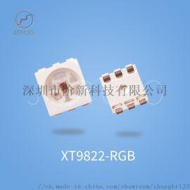 阶新XT9822双信号线,5050RGB幻彩灯珠内置IC