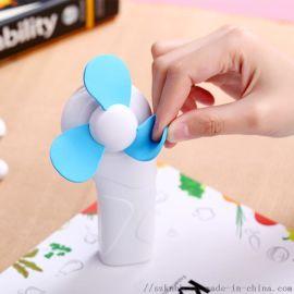 迷你手持LED电筒风扇便携式随身干电池式手拿小电扇