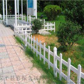 折彎草坪護欄@景區塑鋼圍欄@方便安裝草坪護欄