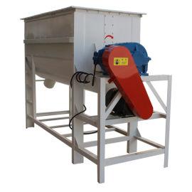卧式饲料单轴混合机 单轴双螺带畜牧养殖搅拌机