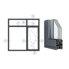 广东兴发铝材创高AL7029A|B系列内开内倒窗