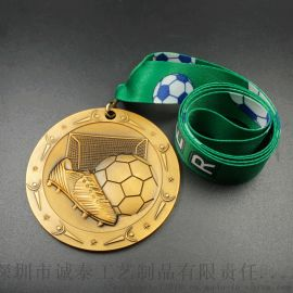 金属奖牌学校运动足球比赛通用奖牌定制电镀挂牌生产