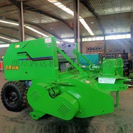 牵引式粉碎玉米秸秆打捆机,农用秸秆粉碎自动打捆机