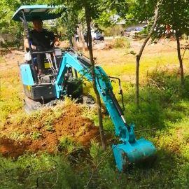 果园小型挖机 轮式小型挖掘机 六九重工lj 小型液