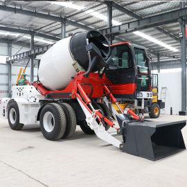 直销 小型自动上料水泥搅拌车 混凝土搅拌运输车