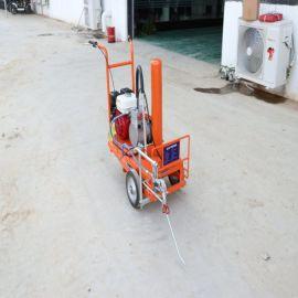 手推式热熔划线机 小区道路标线车 市政公路划线机
