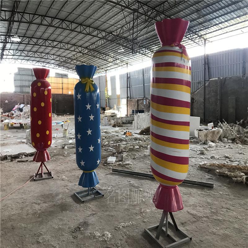 佛山玻璃钢糖果系列雕塑商场美陈装饰玻璃钢雕塑