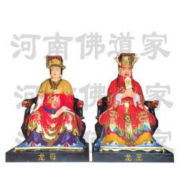 青龙白虎雕塑 四海龙王爷像 东海龙王制作