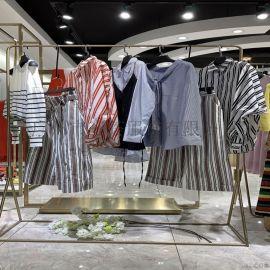 淑女风格女装折扣拿货/艾利欧服装货源厂家直销品牌
