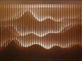 辦公樓隔斷山形波浪型方管,鋁板造型透光鋁格柵屏風
