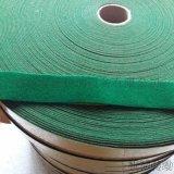 山东绿绒布包辊带 绿绒刺皮 糙面防滑带