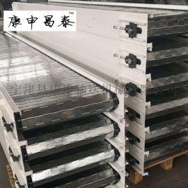 不锈钢冲孔链板输送机 链板流水线上料输送机