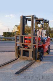 大吨位四驱越野叉车 3.5吨一体式越野叉车