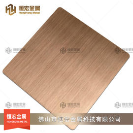 304黑钛拉丝不锈钢板 不锈钢台面压纹板8K彩色