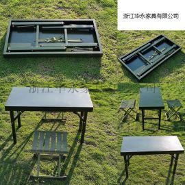 折叠桌野战折叠吹塑桌野战电脑桌单兵折叠 作业桌