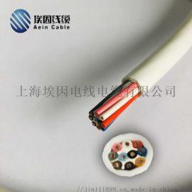 300V热固性橡胶绝缘纤维编织扁电缆