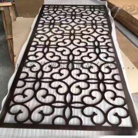广州优质装饰别墅 拉丝红古铜不锈钢屏风金属屏风隔断