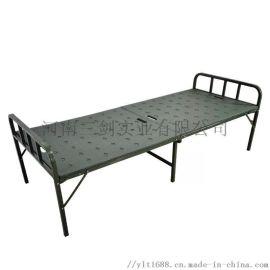 PE吹塑二折折叠床滚塑对折床简易单人行军床