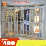 供应大型商场商埔水晶门直角横向拉门水晶折叠门