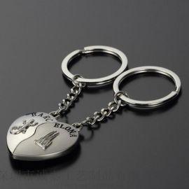 定製金屬情侶鑰匙扣鑰匙掛件製作個性鑰匙扣禮品