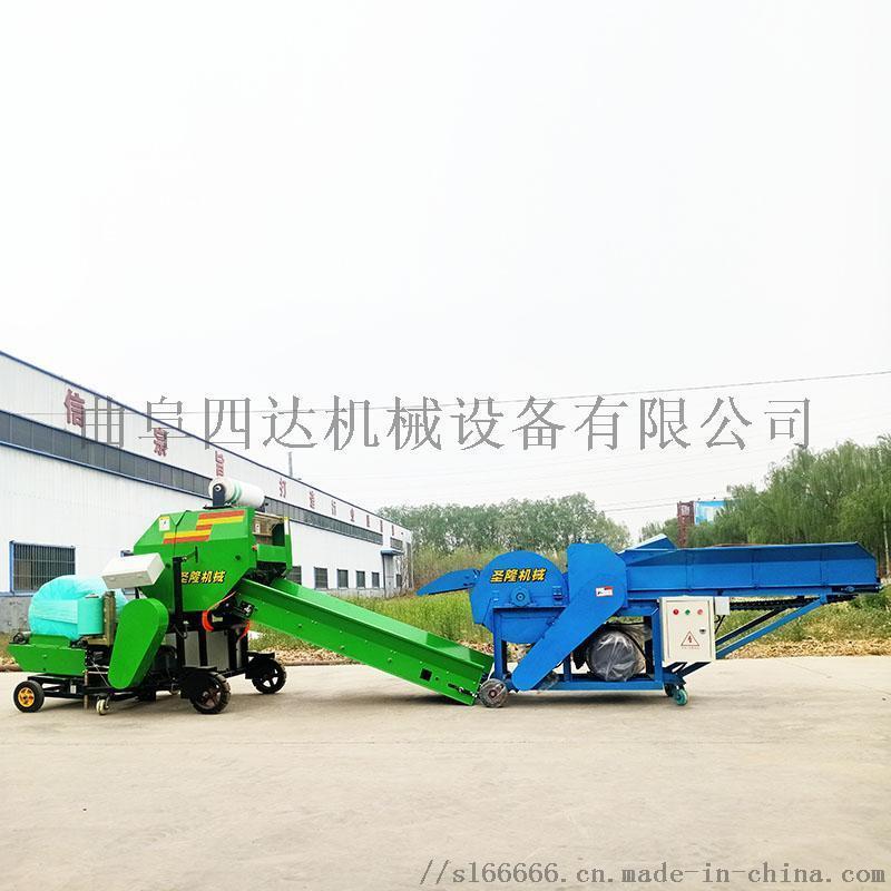 玉米秸秆青贮打捆包膜机 全自动青储打捆包膜机