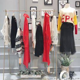 欧美版型时尚毛衣MJ品牌女装折扣批发走份货源