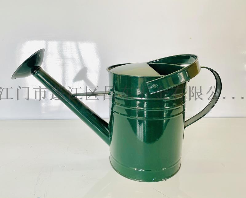 7L花園鐵皮灑壺,鍍鋅噴塗花園鐵灑壺,鐵皮壺,